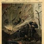 """Une du Petit Journal, 10 novembre 1892. """"La dynamite à Paris. Explosion au commissariat de police de la rue des Bons Enfants""""."""